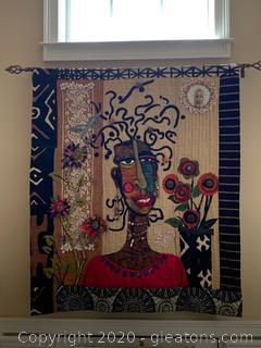 Handmade African Wall Quilt