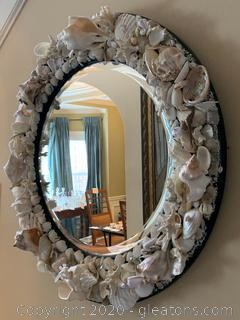 Hand Decorated Circular Mirror