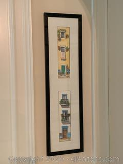 Original Watercolor Painting of House Fronts by Vera