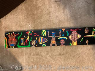 Original Hand Painted African Panel