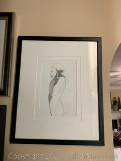 Figurative Mixed Media Male Silhouette by Charles Bibbs