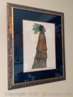 """""""Woman with Feathers"""" by Charles Bibbs"""