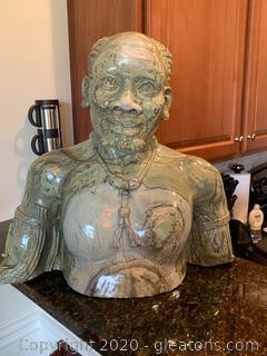 Original Chikumbirike Man Bust Sculpture