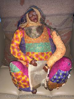Handmade African Doll by Unknown Artist