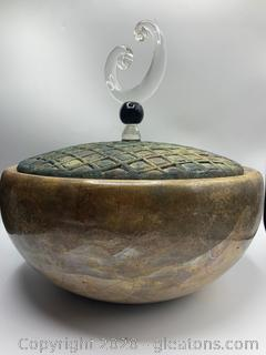 Signed Tony Evans Raku Pottery