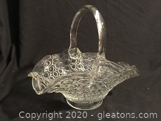 Antique 1,000 eyes glass basket