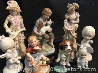 Mixed lot of 9 figures