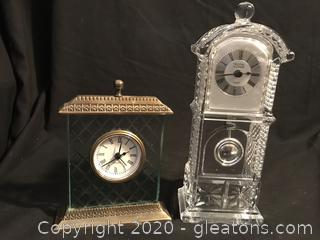 Two crystal clocks