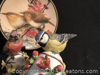 Two bird bells bird plate