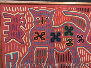 Vintage Original Mola Art reverse Textile Applique