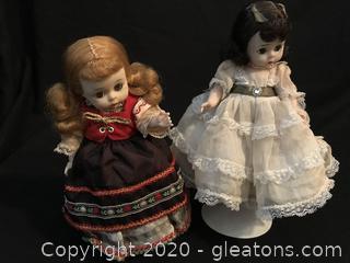 2 madam Alexander Dolls