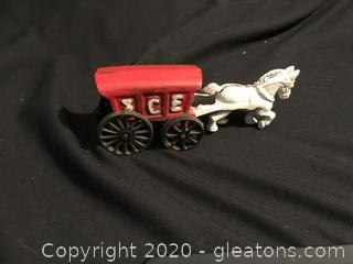 Cast iron horse and Ice wagon