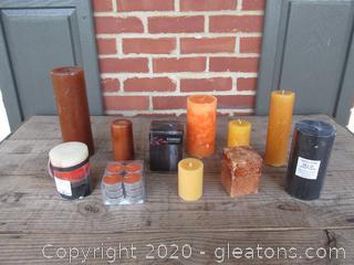 Autumn / Fall / Halloween Candle Lot