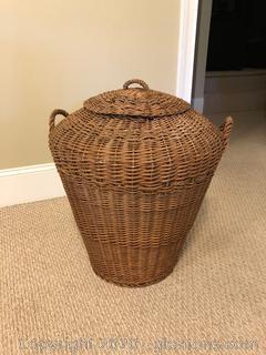 Huge Basket with Lid