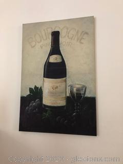 Wine & Glass Wall Art