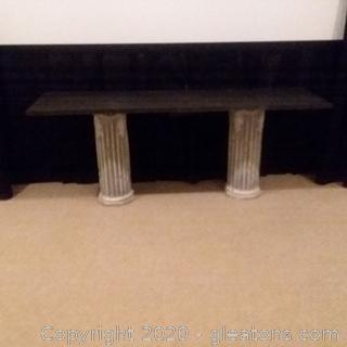 2 Pillar Slate Top Table