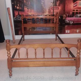 Vintage Full Size Bed and Frame