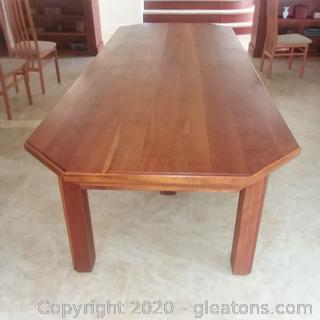 Beautiful Hand Crafted Cherry Dining Room Table