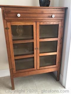 Vintage Oak Pie Safe Cabinet