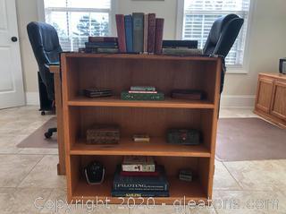 Golden Oak 3-Shelf Bookcase