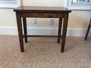 Small Solid Wood Bench