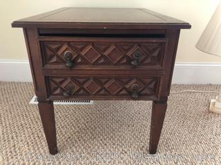 Vintage Geometric End Table/Nightstand