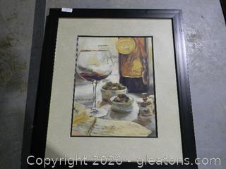 Wine Setting Print