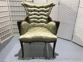 Green Victorian Vintage Side Chair