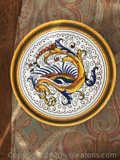 Hand Painted Bellacio Der UTA Decorative Plate