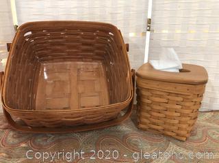 2-Piece Lot of Longaberger Baskets