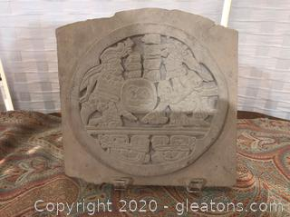 Heavy Plaster Art Relief, Medieval Setting