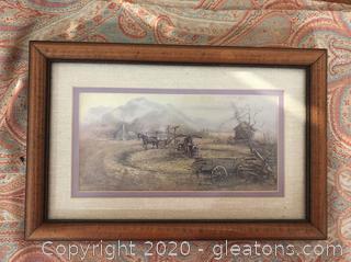 Small Vintage Farmplace Scene
