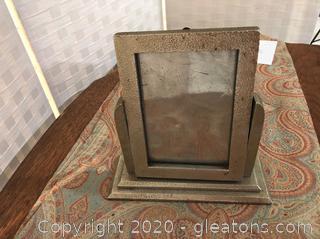 Vintage Silver Metal Swinging Picture Frame