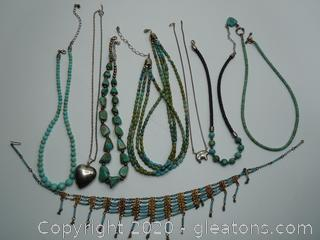 Turquoise And Sterling Necklaces