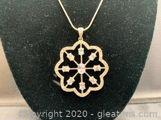 "28"" Sterling Necklace with Snowflake Pendant"