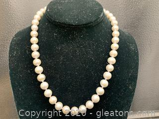 14K Gray Pearl Necklace 18""