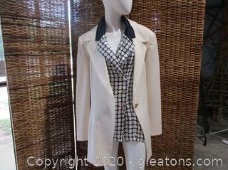 2pc. Escada by Margaretha Ley Blouse and Jacket Set NWT (Size 44)