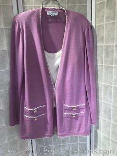 2Pc Shell & Jacket Set By St.John Collection For Marie Gray (size L & 14)