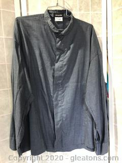 Long-Sleeve Button Down Shirt By Eskandar (Neiman Marcus Size 2 )