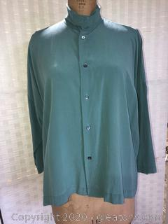 100% Silk Ladies Blouse By Eskandar (Neiman Marcus Size 1)