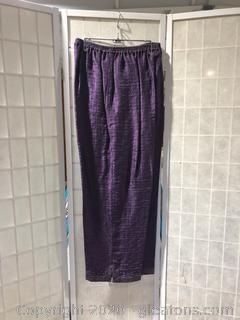Royal Purple Pants By Eskandar (Neiman Marcus Size 2)
