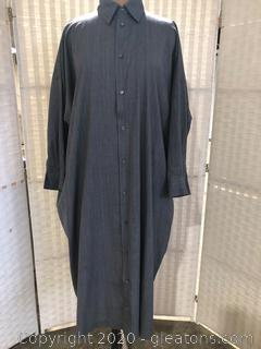 Long-Sleeve, Mid-Length Shirt Dress By Eskandar (Neiman Marcus Size 1)