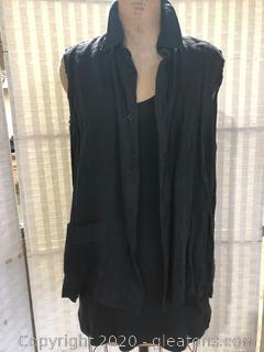 2 Pc Black Top Set (Neiman Marcus Size 1 & XXL)