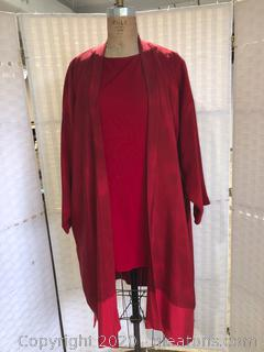 2 Pc Shell & Long Jacket Ensemble (Neiman Marcus Size 0 & Size 2)