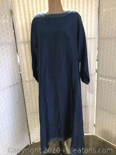 Navy Calf-Length Dress By Eskandar (Neiman Marcus Size 2)