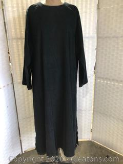 Black Pull-Over Corduroy Dress By Eskandar (Neiman Marcus Size 2 )
