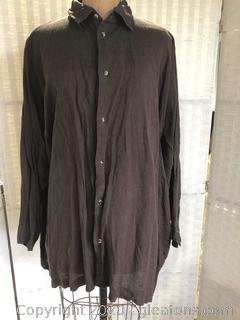 Brown, Long, Button-Down Jacket By Eskandar (Neiman Marcus Size 2)