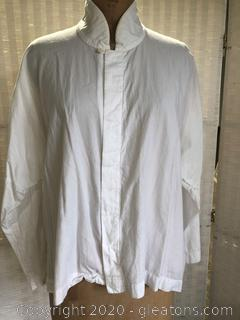 Off White Ladies Blouse By Eskandar #2 (Neiman Marcus Size 1)