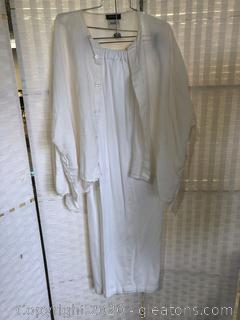 2 Pc White Pant Suit By Eskandar  (Neiman Marcus Size 0 & 2)