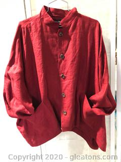 Burnt Orange, Short, Button Down Jacket By Eskandar (Neiman Marcus Size 1)